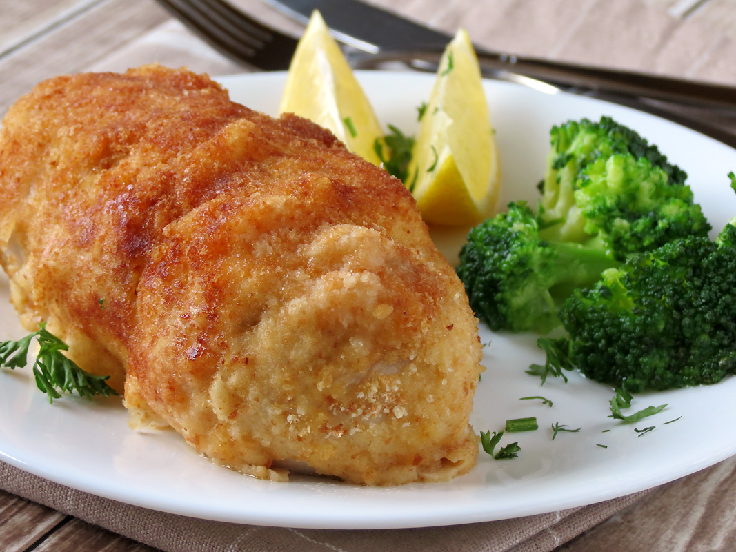 Delicious Baked Chicken Kiev | YummyAddiction.com