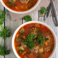 Easy Mexican Meatball Soup (Albondigas)