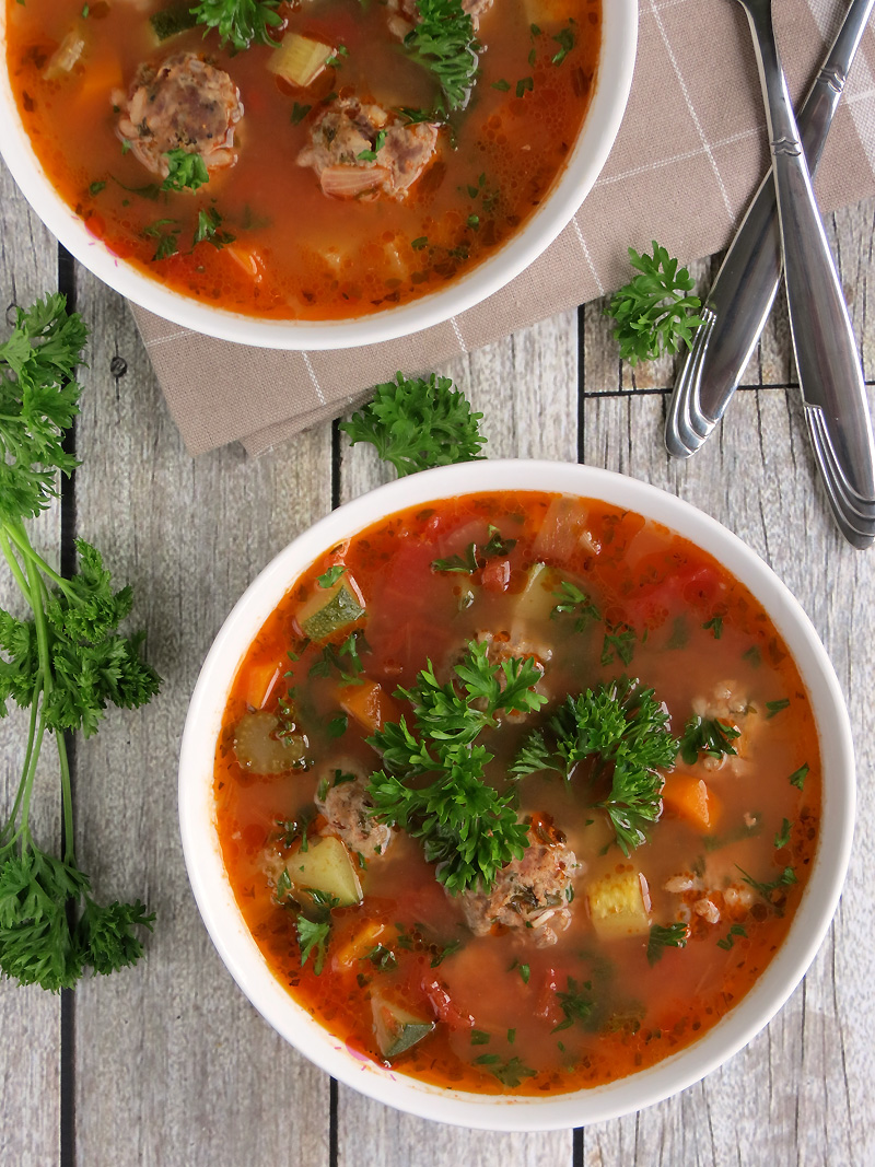 Easy Mexican Meatball Soup (Albondigas) | YummyAddiction.com