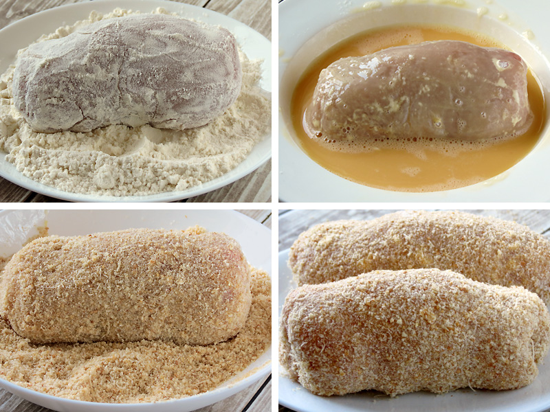 How to Bread Chicken | YummyAddiction.com