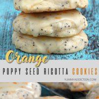 Orange poppy seed ricotta cookies pinterest pin