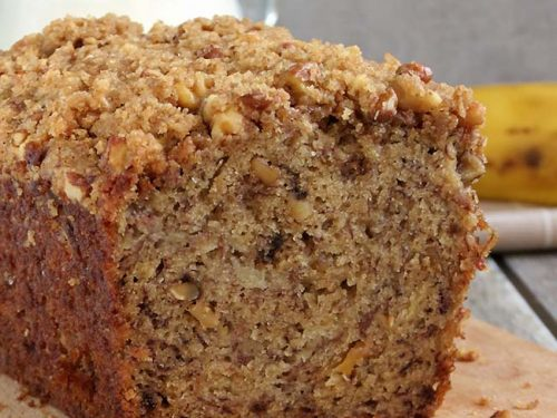 Moist Banana Bread W Crunchy Streusel Topping