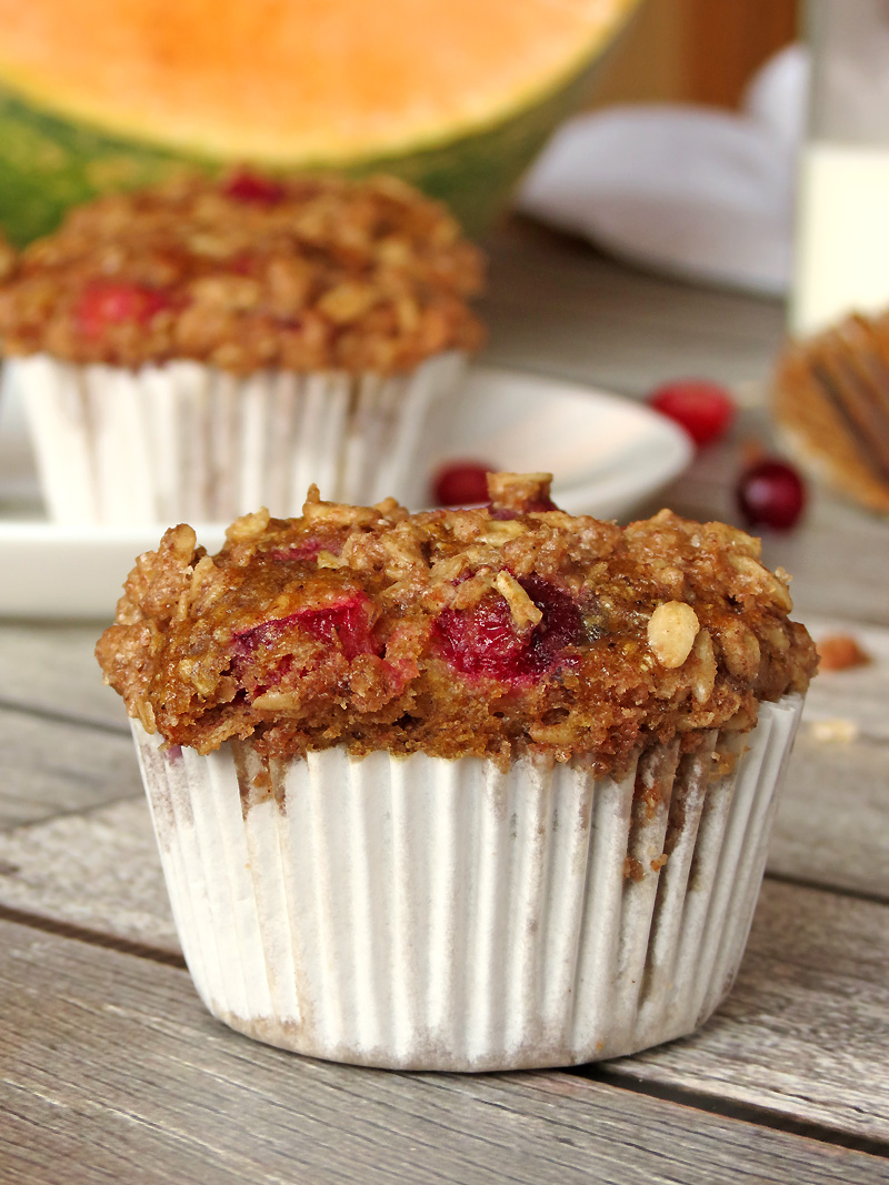 Pumpkin Cranberry Oatmeal Muffins - Perfect For A Delicious Guilt Free Breakfast! | YummyAddiction.com