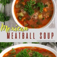 Mexican meatball soup pinterest pin