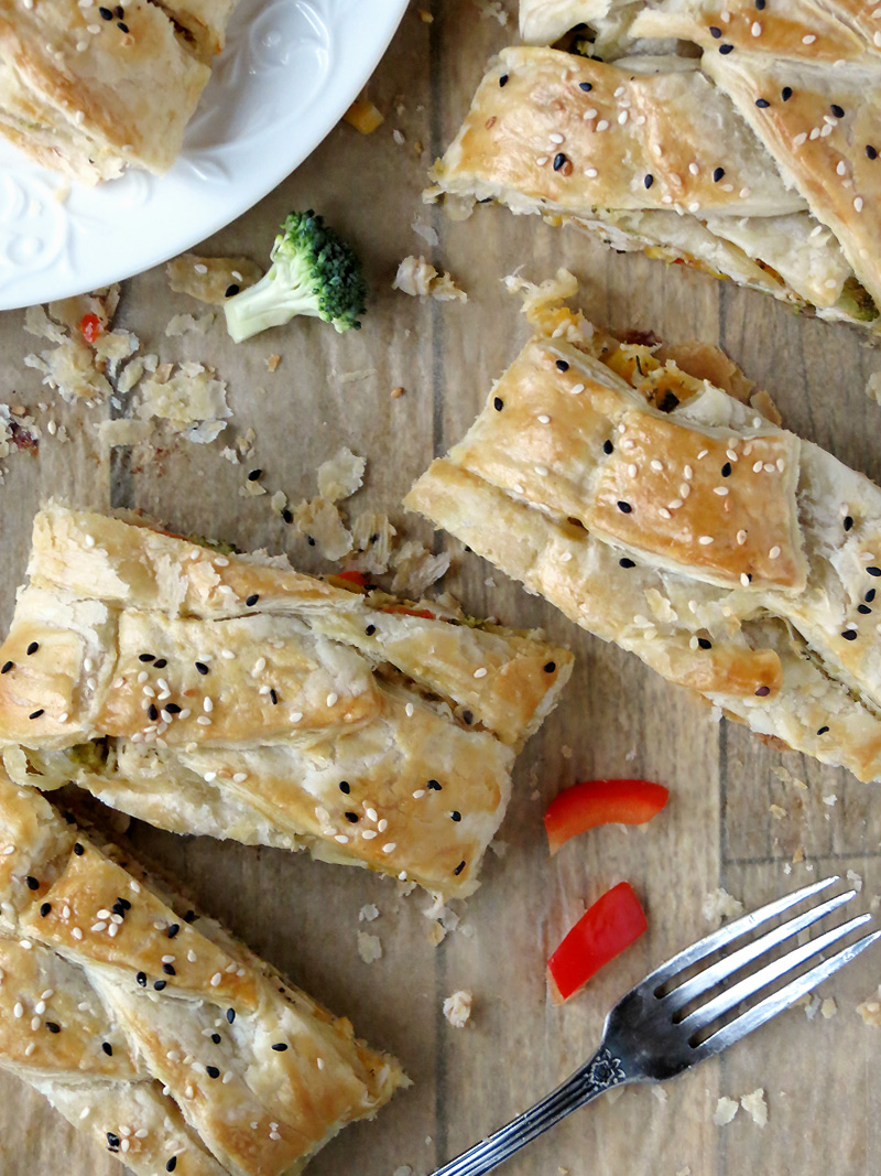 Broccoli & Chicken Braided Bread   @yummyaddiction