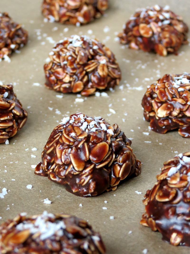 Coconut And Nutella No Bake Cookies | @yummyaddiction