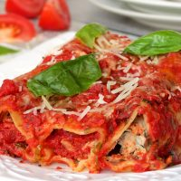 Italian Chicken, Spinach And Ricotta Cannelloni