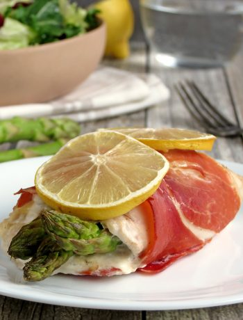 Prosciutto Wrapped Asparagus And Mozzarella Stuffed Chicken