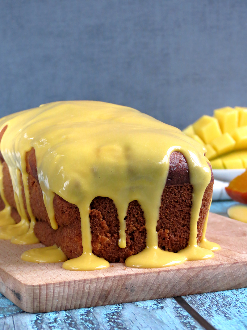 Pumpkin Mango Bread With Mango Curd | @yummyaddiction