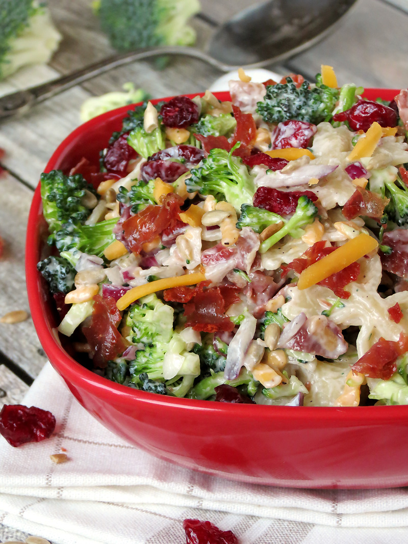 Broccoli And Cranberry Pasta Salad | @yummyaddiction