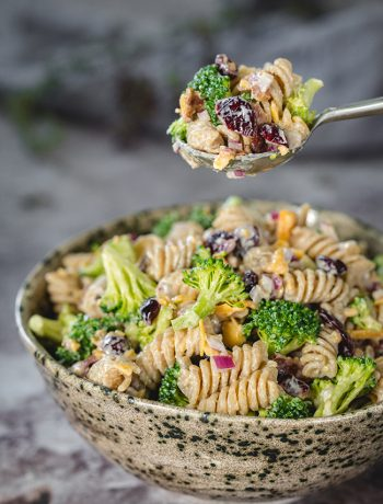 Broccoli Cranberry Pasta Salad