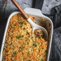 Chicken And Brown Rice Casserole With Veggies