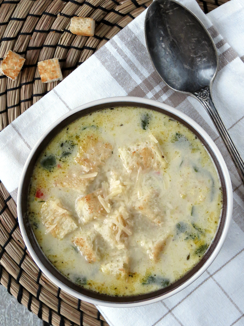 Chicken Florentine Soup | @yummyaddiction