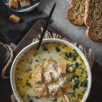Comforting Chicken Florentine Soup