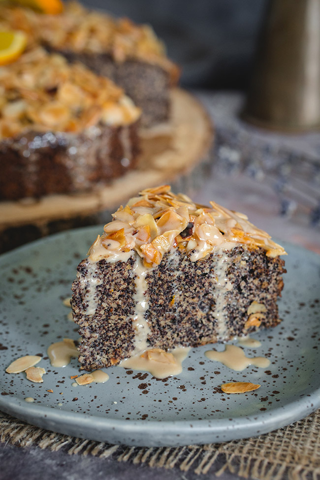 Almond Poppy Seed Cake | yummyaddiction.com