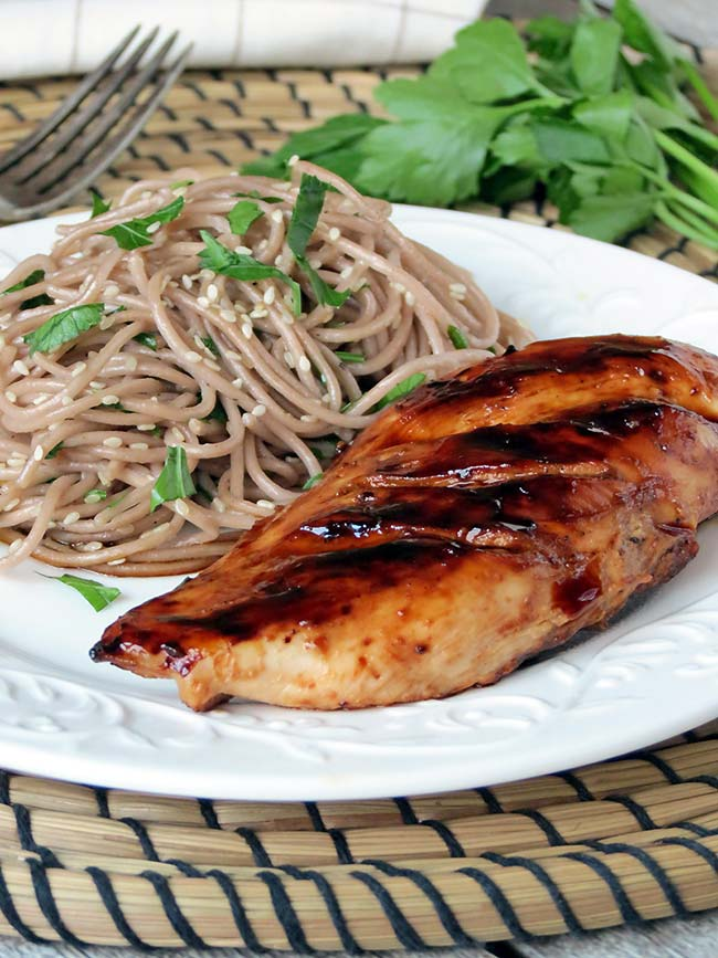Chicken Teriyaki With Soba Noodles | yummyaddiction.com
