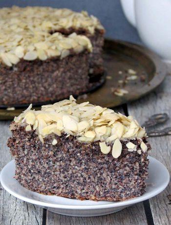 Gluten Free Almond Poppy Seed Cake