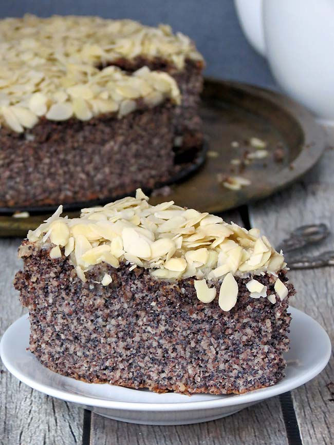 Gluten Free Almond Poppy Seed Cake | yummyaddiction.com