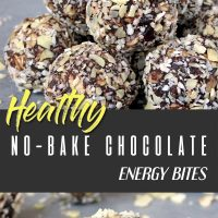 Healthy no-bake chocolate energy bites pinterest pin