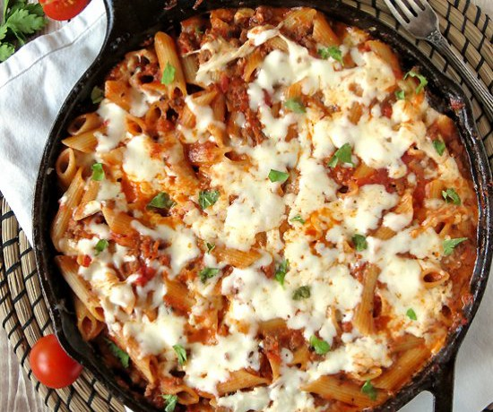 One-Pan Cheesy Pasta Bolognese