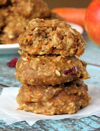Soft Cranberry Carrot Cake Cookies