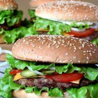 Juicy Pork Burgers With BBQ Sauce