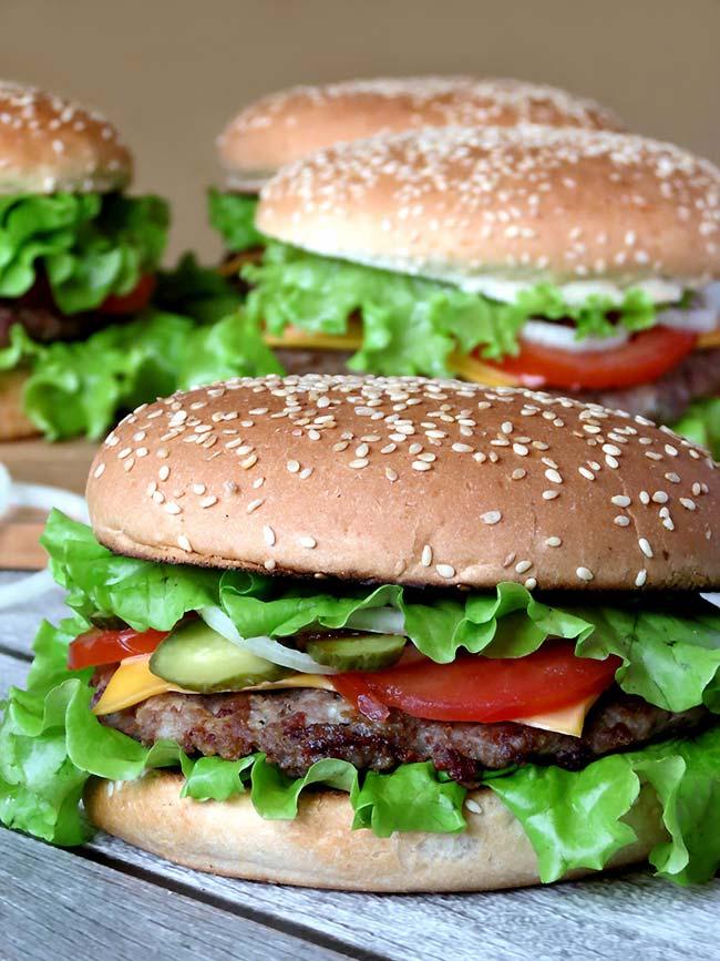Juicy Pork Burgers With BBQ Sauce | yummyaddiction.com