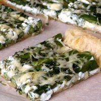 Asparagus Tart With Goat Cheese