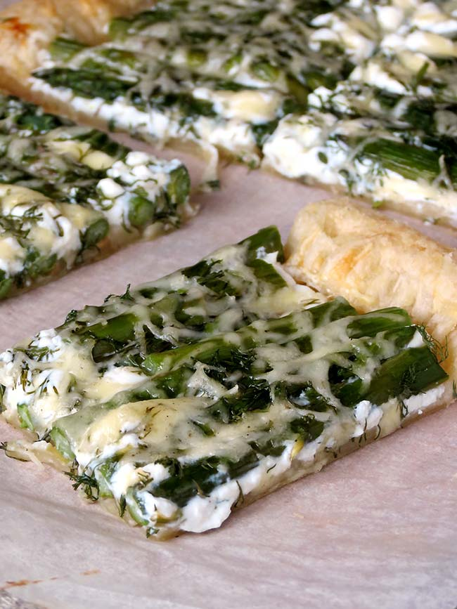 Asparagus Tart With Goat Cheese | yummyaddiction.com