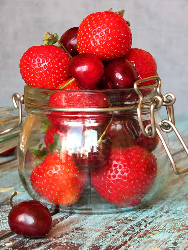 Strawberries And Cherries