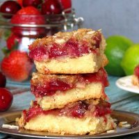 Strawberry Cherry Crumb Cake