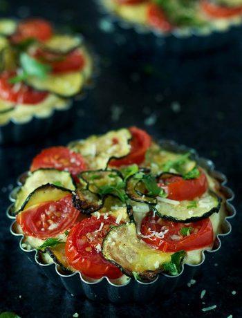 Zucchini, Tomato & Ricotta Tartlets