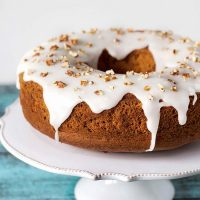 This Pineapple Pound Cake with pecans is made with canned crushed pineapple so it can be enjoyed all year long!   yummyaddiction.com