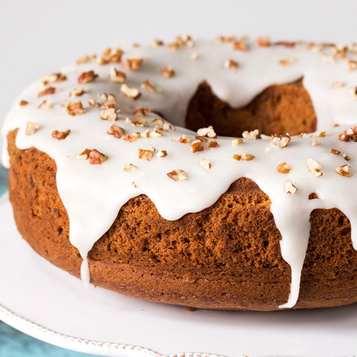 This Pineapple Pound Cake with pecans is made with canned crushed pineapple so it can be enjoyed all year long! | yummyaddiction.com