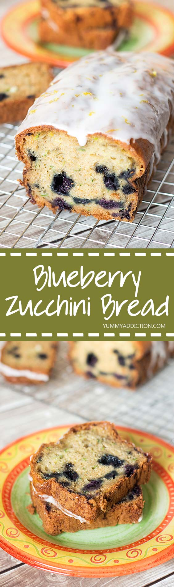 This Blueberry Zucchini Bread is super delicious and really easy to make. It will become your instant favorite! | yummyaddiction.com