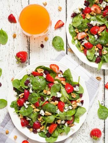 Strawberry Walnut Salad with Poppy Seed Dressing