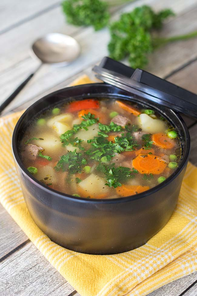 This is the best vegetable beef soup recipe you have ever tried! It is hearty, comforting and so flavorful! | yummyaddiction.com