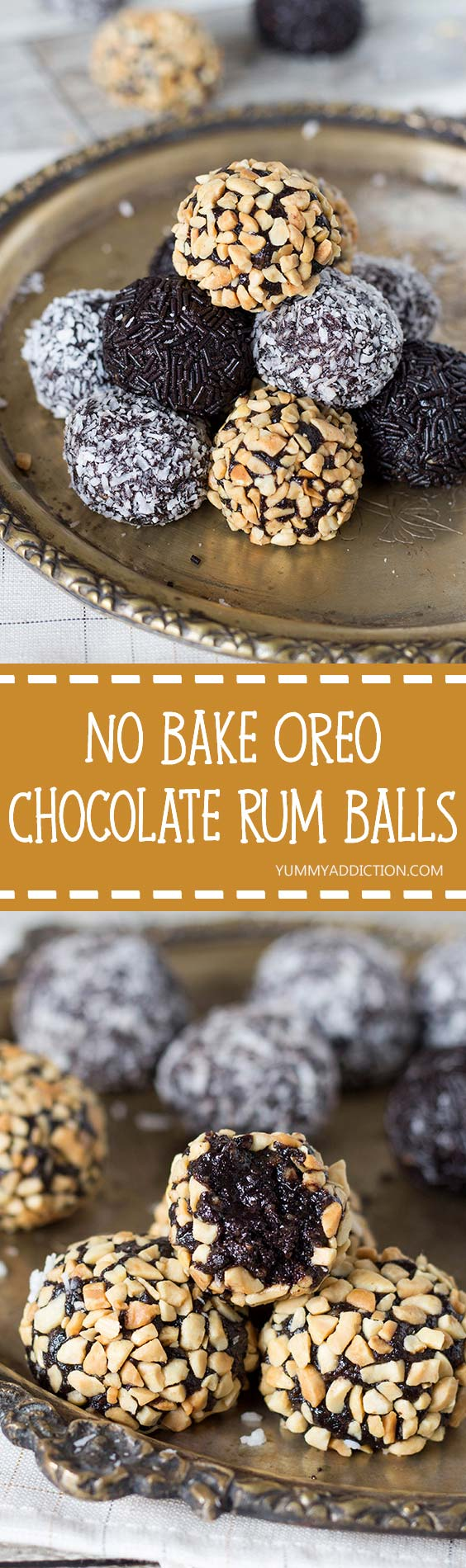 Chocolate Walnut Rum Balls Recipe — Dishmaps