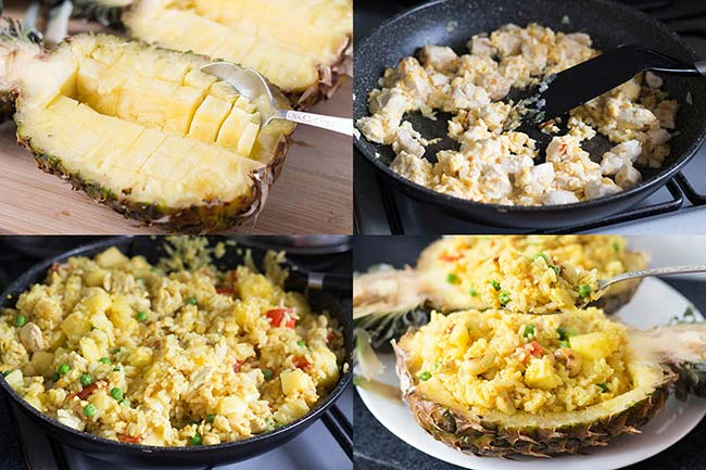Thai Pineapple Fried Rice In A Pineapple Shell Recipe — Dishmaps