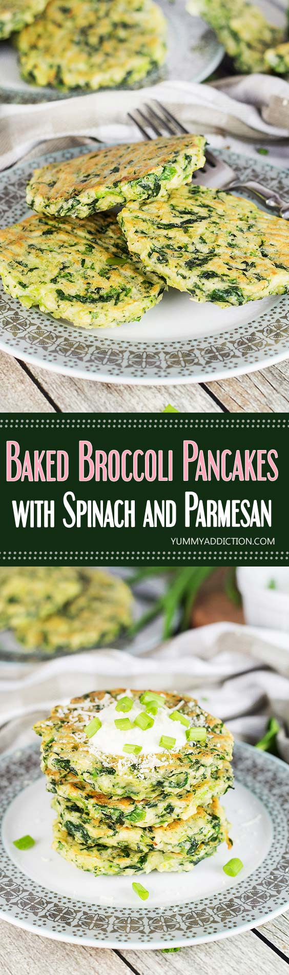Broccoli Pancakes W Spinach And Parmesan Cheese