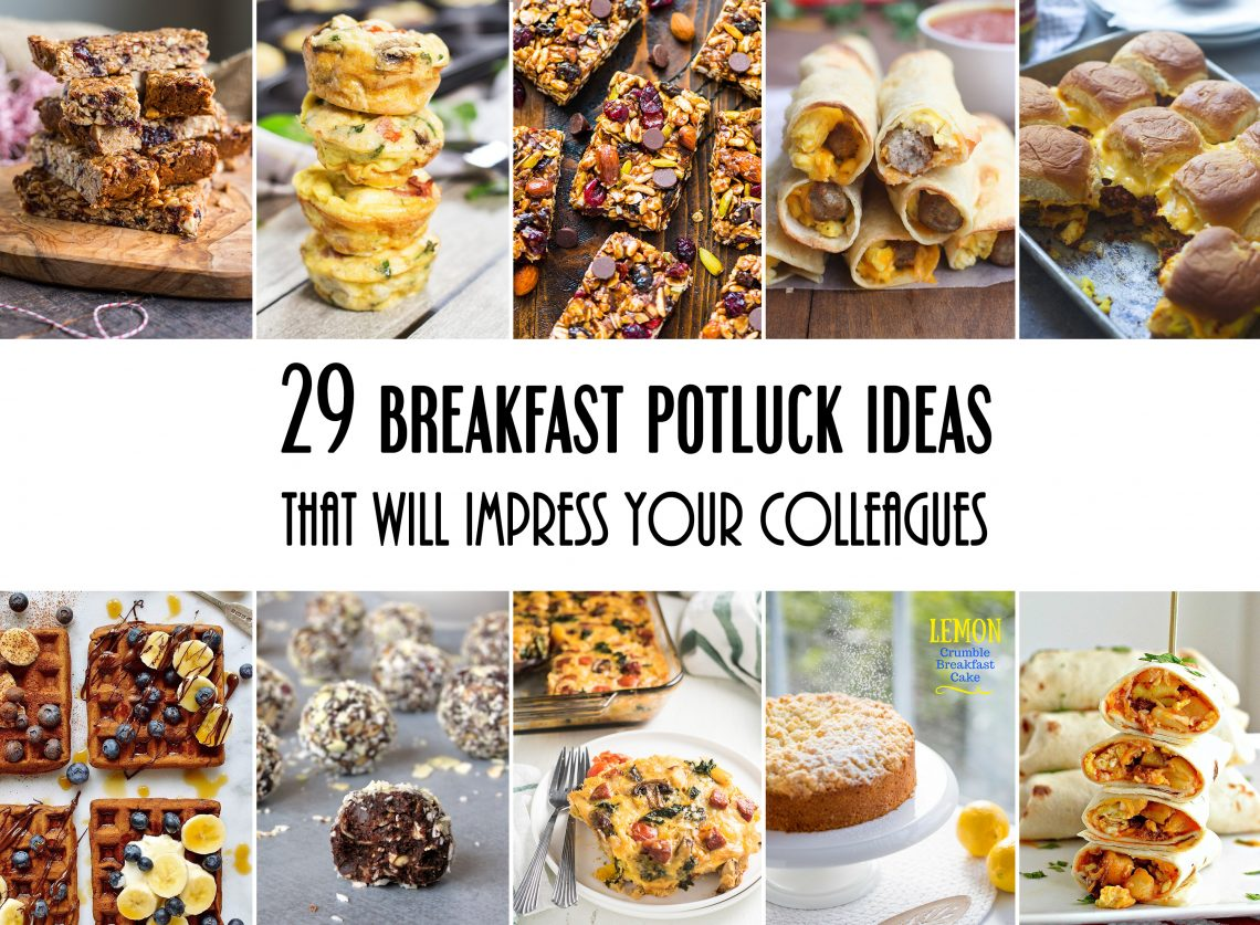 29 Breakfast Potluck Ideas For Work That Will Impress Your Colleagues #breakfast #potluck | yummyaddiction.com