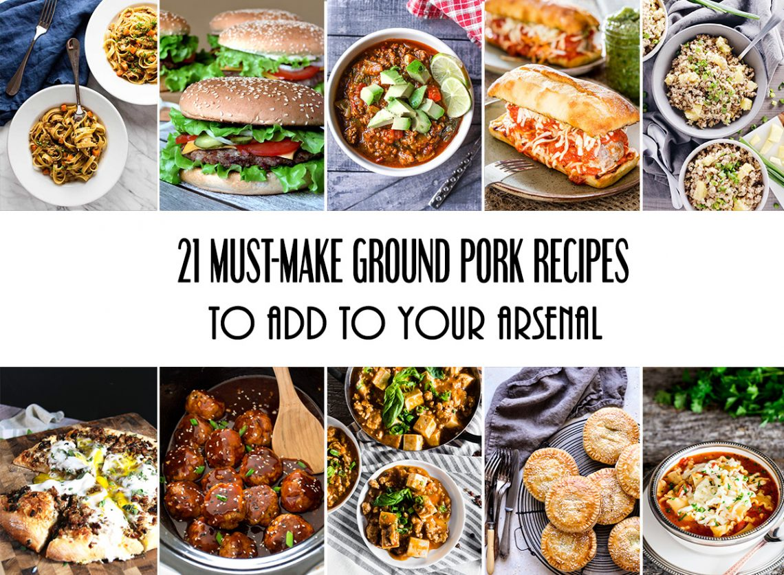 21 Must-Make Ground Pork Recipes To Add To Your Arsenal #pork #dinner #appetizer | yummyaddiction.com