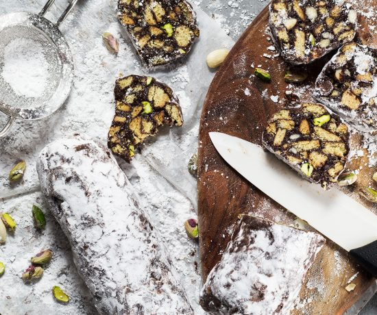 Crunchy, sweet, and chocolatey, this Chocolate Salami is no-bake and really easy to make. Packed with cookies and nuts, it's guaranteed to become your favorite! | yummyaddiction.com