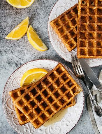 Gluten-free cottage cheese waffles packed with protein