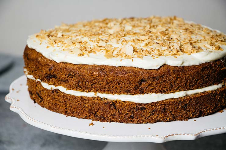 The best carrot cake ever with cream cheese and mascarpone frosting