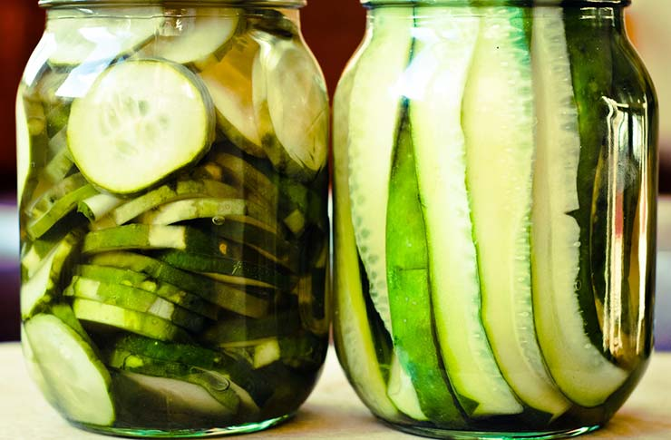 Two jars of pickles