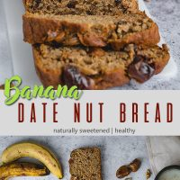 Banana date nut bread pinterest pin