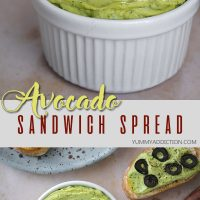 Avocado sandwich spread pinterest pin