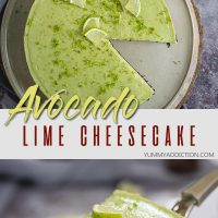 Avocado lime cheesecake pinterest pin
