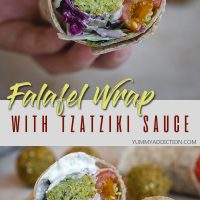 Falafel wrap pinterest pin
